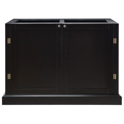 Prescott Solid Black Modular 4 Drawer Pantry Base