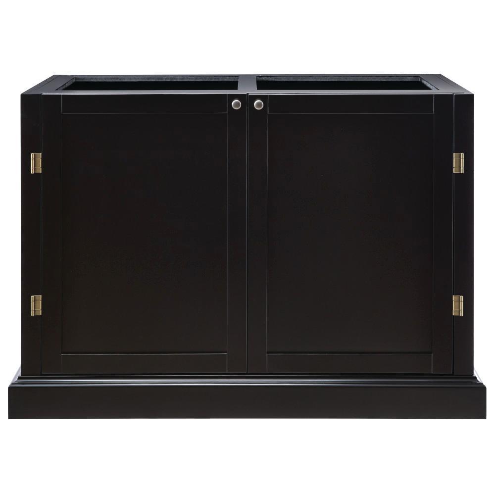 Prescott Solid Black Modular 4 Drawer Pantry Base