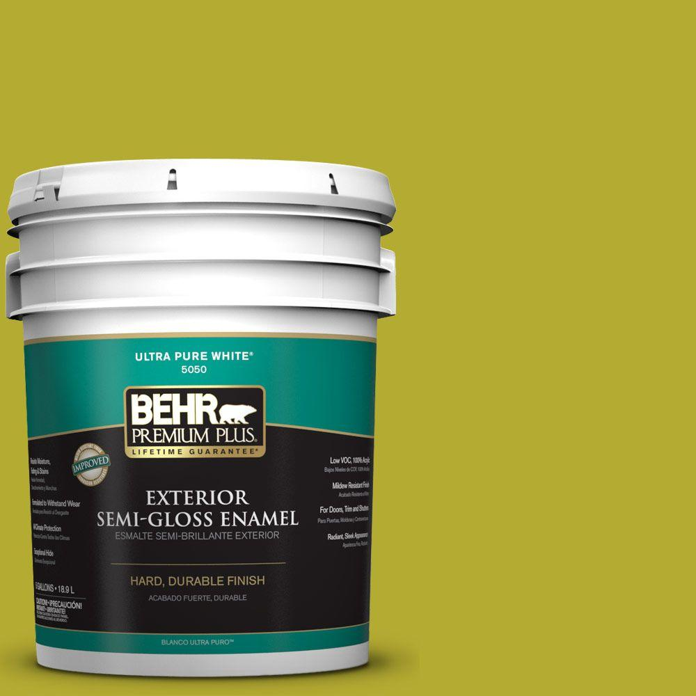 5-gal. #P340-6 Green Neon Semi-Gloss Enamel Exterior Paint