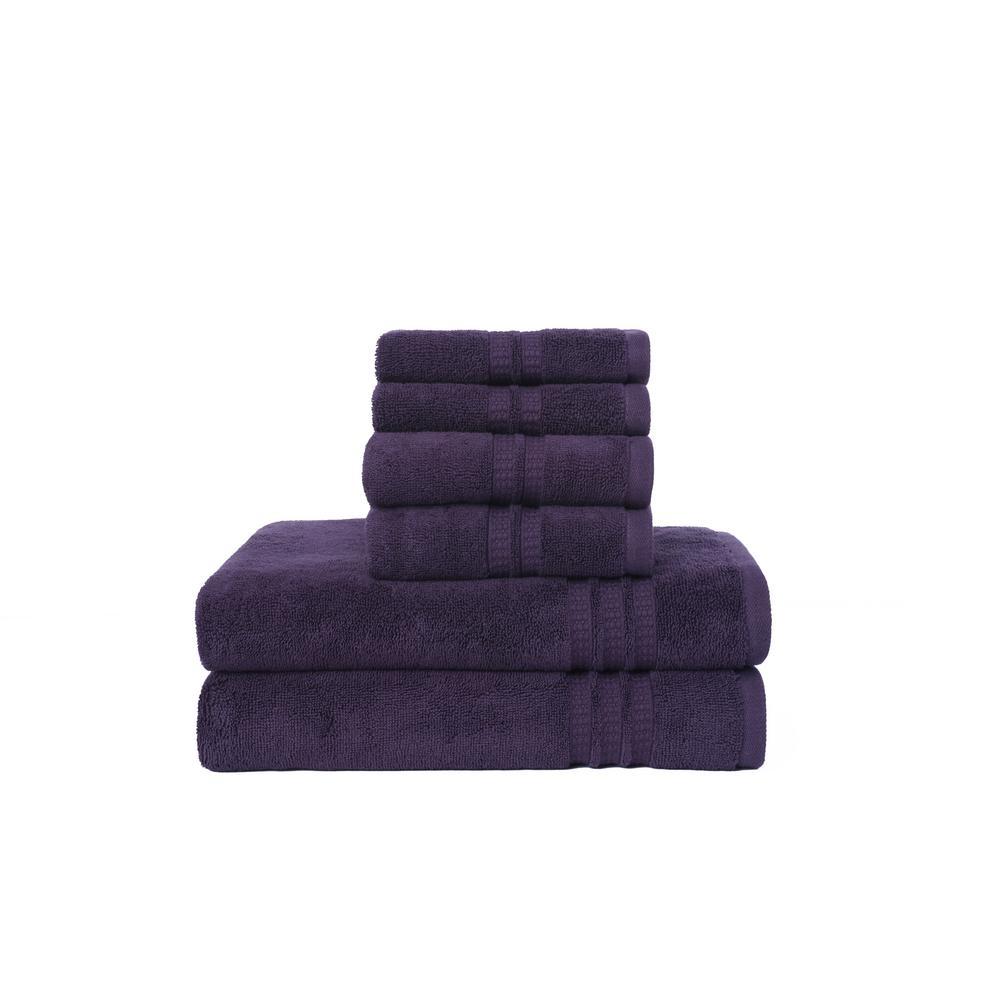 Modern Home Trends 6-Piece Towel Set in Purple