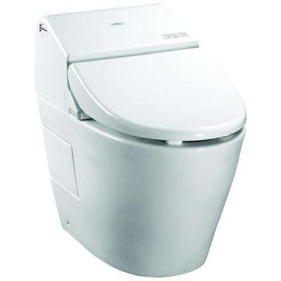 Neorest 550H 1-Piece 0.8/1.0 GPF Dual Flush Elongated Toilet in Cotton White, Seat Included