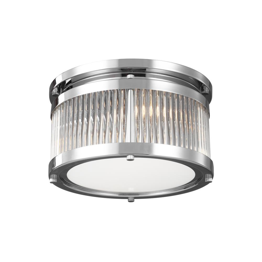 Paulson 2-Light Chrome Flushmount