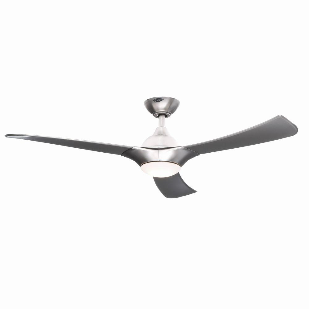 LED Brushed Aluminum Ceiling Fan 7800200   The Home Depot