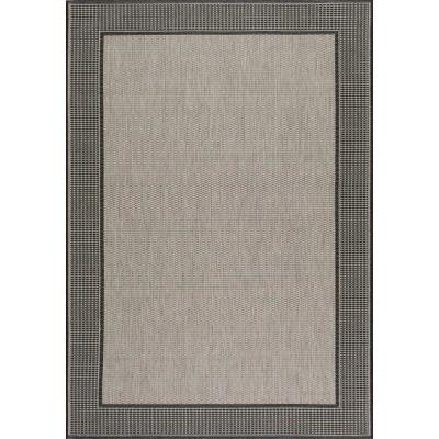 Machine Made Outdoor Gris Gray 11 ft. x 15 ft. Area Rug