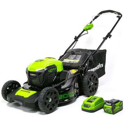 20 in. 40-Volt Cordless 3-in-1 Walk Behind Lawn Mower with 4 Ah Battery and Charger