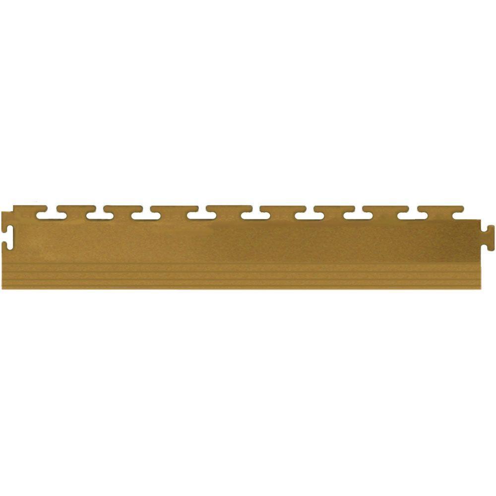 IT-tile 20-1/2 in. x 2-1/2 in. Coin Light Beige PVC Tapered Interlocking Multi-Purpose Flooring Tile Edges (4-Pack)