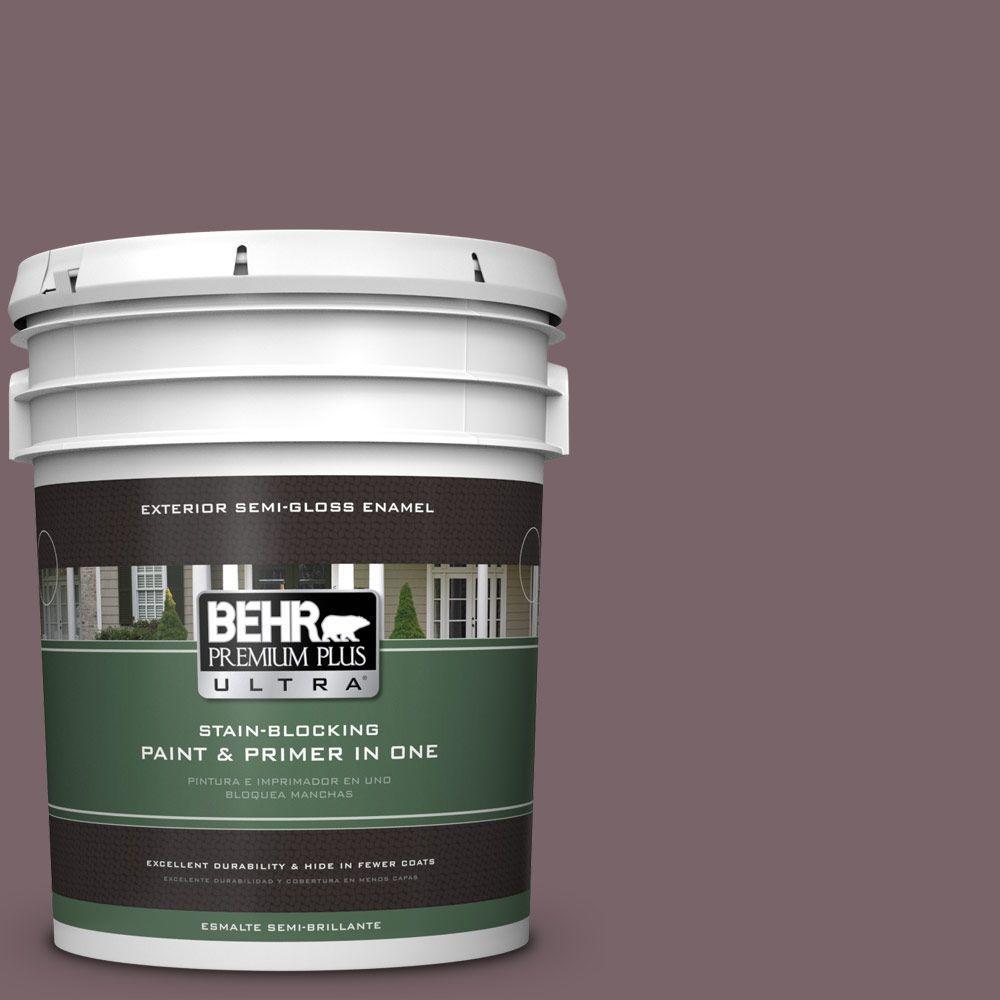 5-gal. #100F-6 Plum Shade Semi-Gloss Enamel Exterior Paint