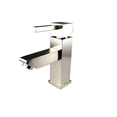 Versa Single Hole 1-Handle Low-Arc Bathroom Faucet in Brushed Nickel