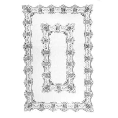 Heirloom Rectangle White Polyester Tablecloth