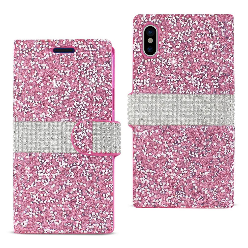 REIKO iPhone X Rhinestone Case in Pink-DFC02-IPHONEXPK - The Home Depot bc99dfc82f