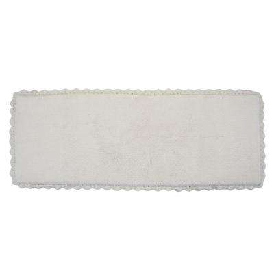Crochet 22 in. x 60 in. Bath Runner in Ivory
