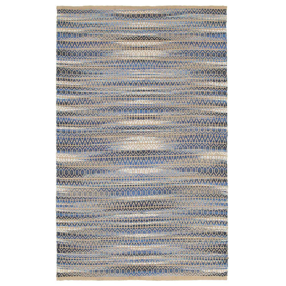 Natural Fiber Blue Rectangle 5 ft. x 7 ft. 9 in.