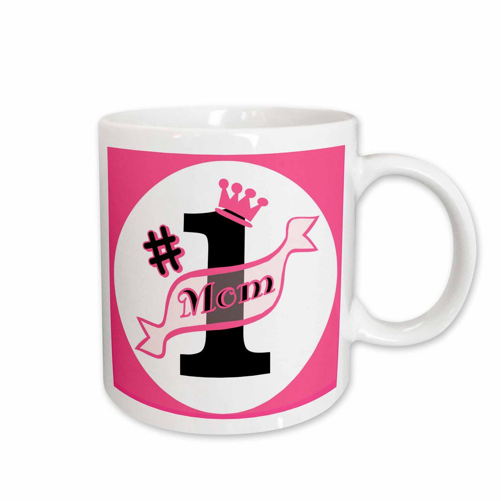 Janna Salak Mothers Day Gifts Cup Number One Mom Pink 11