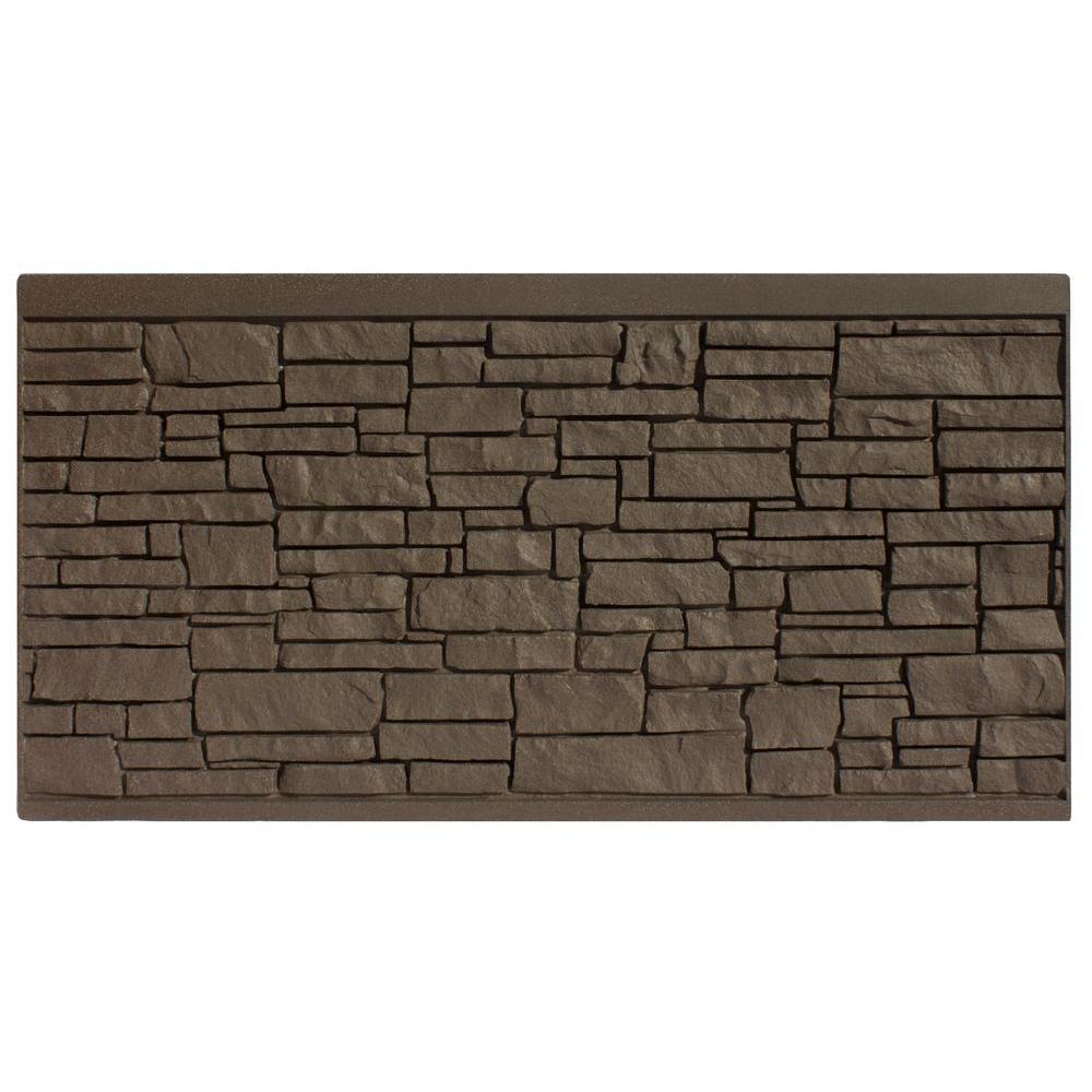 4 ft. H x 8 ft. W EcoStone Dark Brown Composite Fence Panel