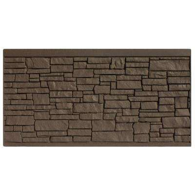 4 ft. H x 8 ft. W EcoStone Dark Brown Composite Fence Panel