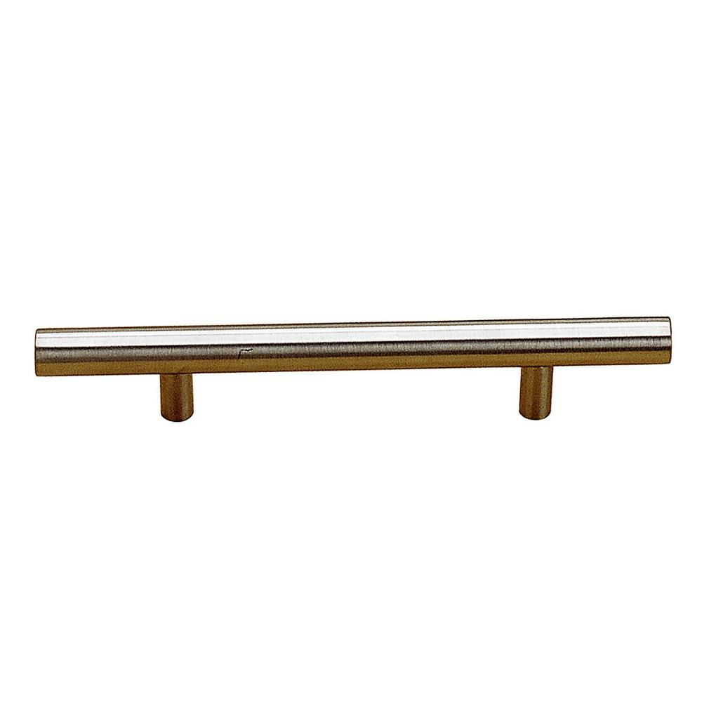 Richelieu Hardware 3-3/4 in. (96 mm) Center-to-Center Antibacterial, Stainless Steel Contemporary Drawer Pull