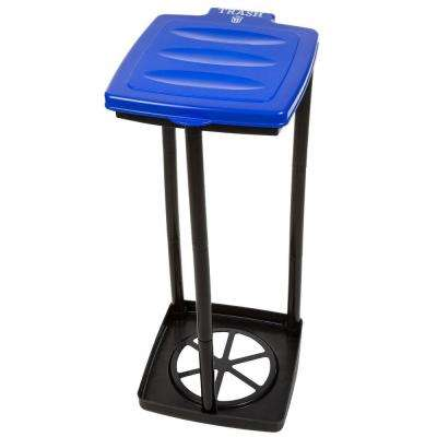 13 Gal. Blue Portable Garbage Trash Bag Holder