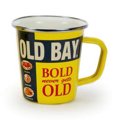 16 oz. Old Bay Yellow Enameled Steel Handled Cup
