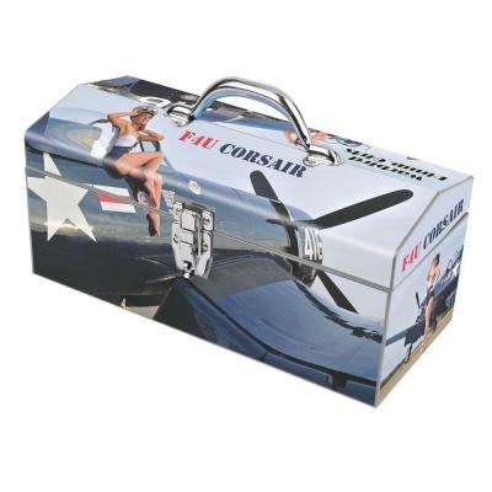 16 in. Warbird Pinup Girls F4U Corsair Art Tool Box