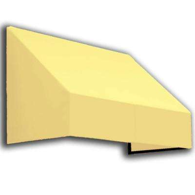 10 ft. New Yorker Window Awning (44 in. H x 24 in. D) in Light Yellow