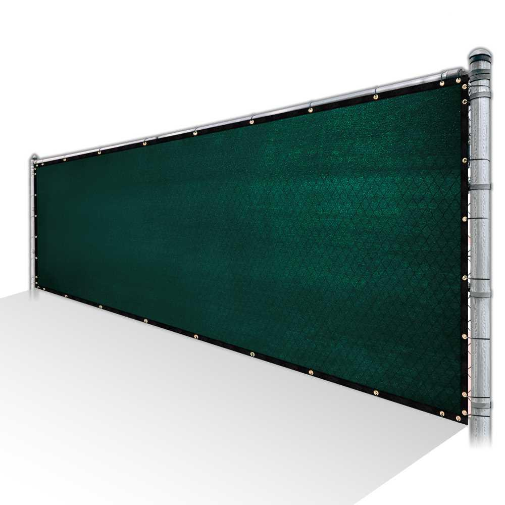 Colourtree 4 Ft X 52 Ft Green Privacy Fence Screen Hdpe Mesh Windscreen With Reinforced Grommets For Garden Fence Custom Size 4x52fs 1 The Home Depot