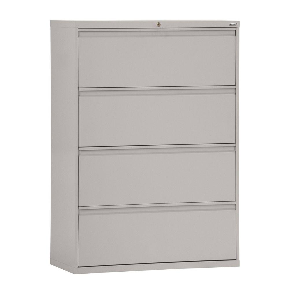 sandusky 800 series 30 in w 4 drawer pull lateral file