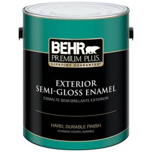 1 gal. Ultra Pure White Semi-Gloss Enamel Exterior Paint
