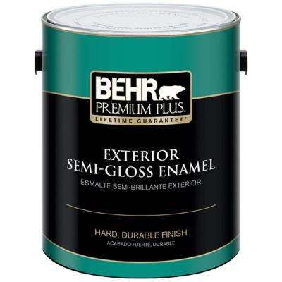 1 gal. Ultra Pure White Semi-Gloss Enamel Exterior Paint and Primer in One