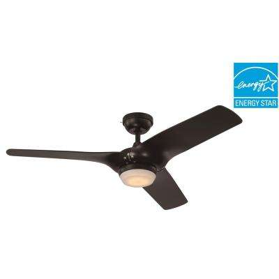 Arrowood II 52 in. LED Indoor Black Ceiling Fan
