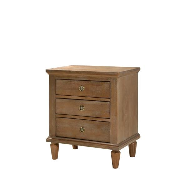 Cambridge 3 Drawers Oak Gray Wash Night Stand