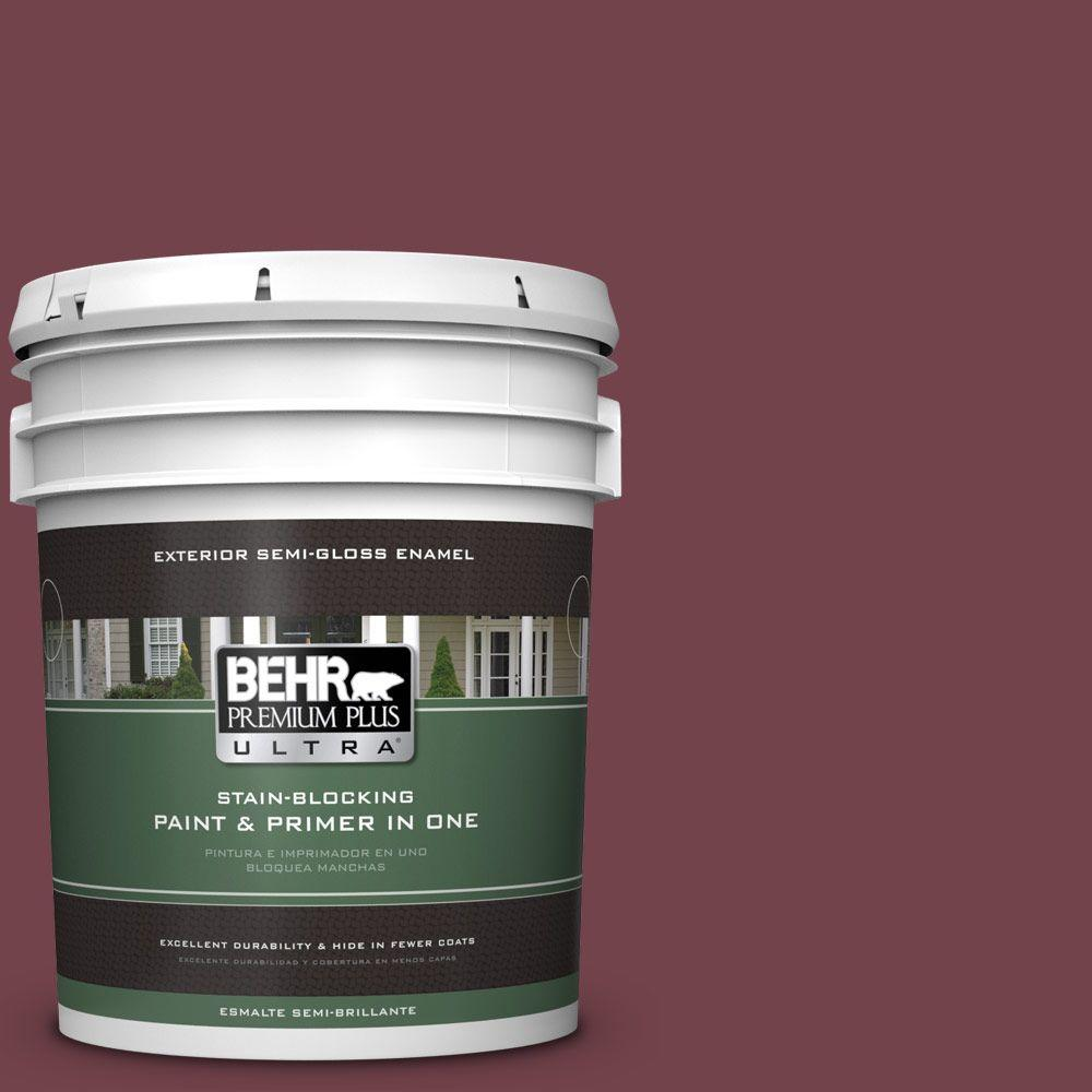BEHR Premium Plus Ultra 5-gal. #PPF-50 Fired Brick Semi-Gloss Enamel Exterior Paint