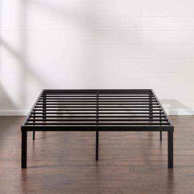 Luis Quick Lock 16 Inch Metal Platform Bed Frame, Queen