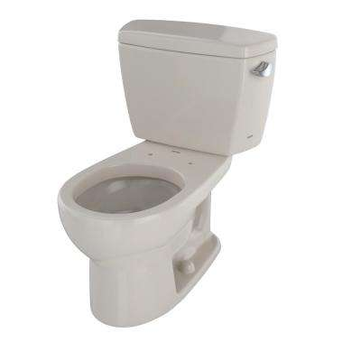 Drake 2-Piece 1.6 GPF Single Flush Round Toilet with Right Hand Trip Lever in Sedona Beige