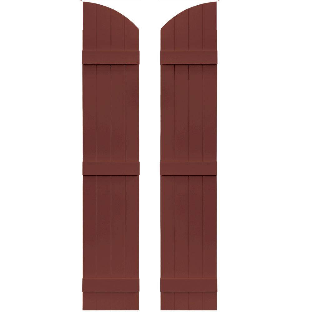 14 in. x 73 in. Board-N-Batten Shutters Pair, 4 Boards Joined