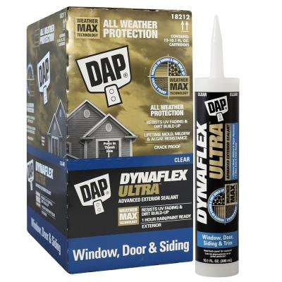 Dynaflex Ultra 10.1 Clear Advanced Exterior Window, Door and Siding Sealant (12-Pack)