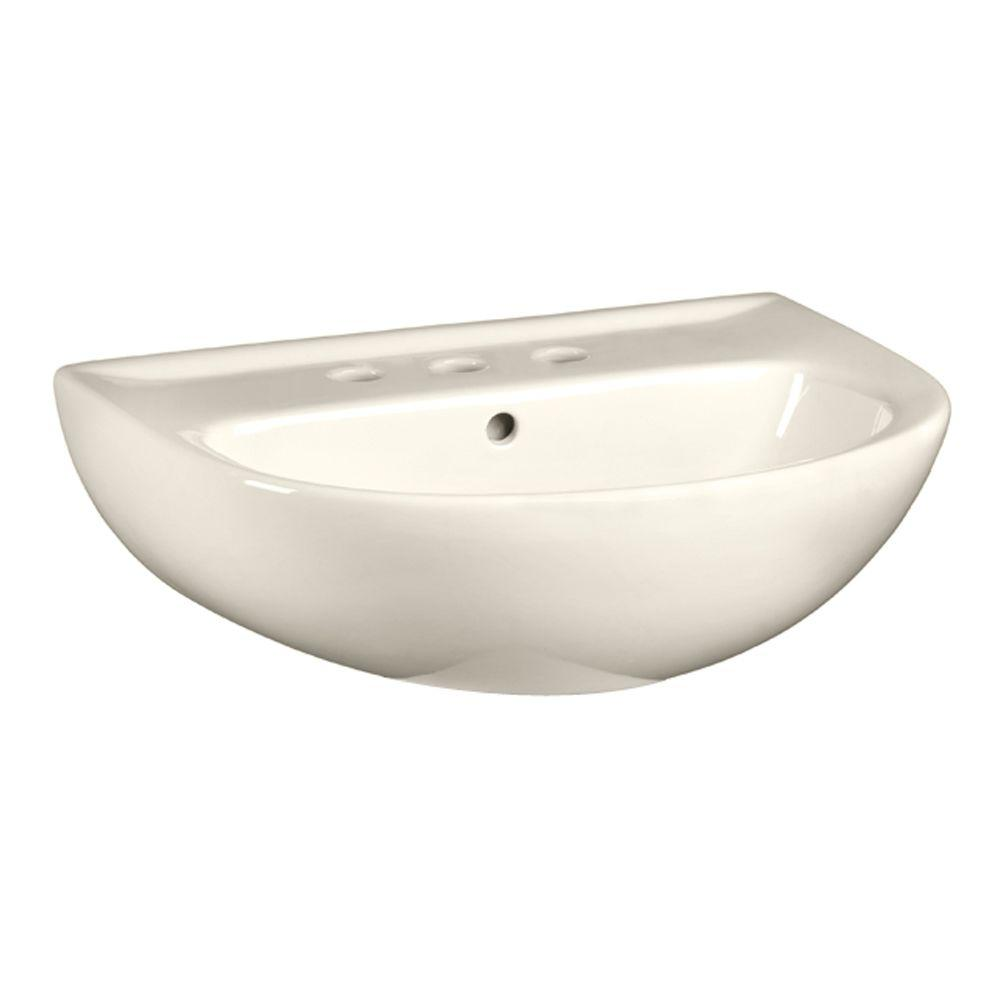 Evolution 5-1/2 in. Pedestal Sink Basin with 8 in. Faucet Centers