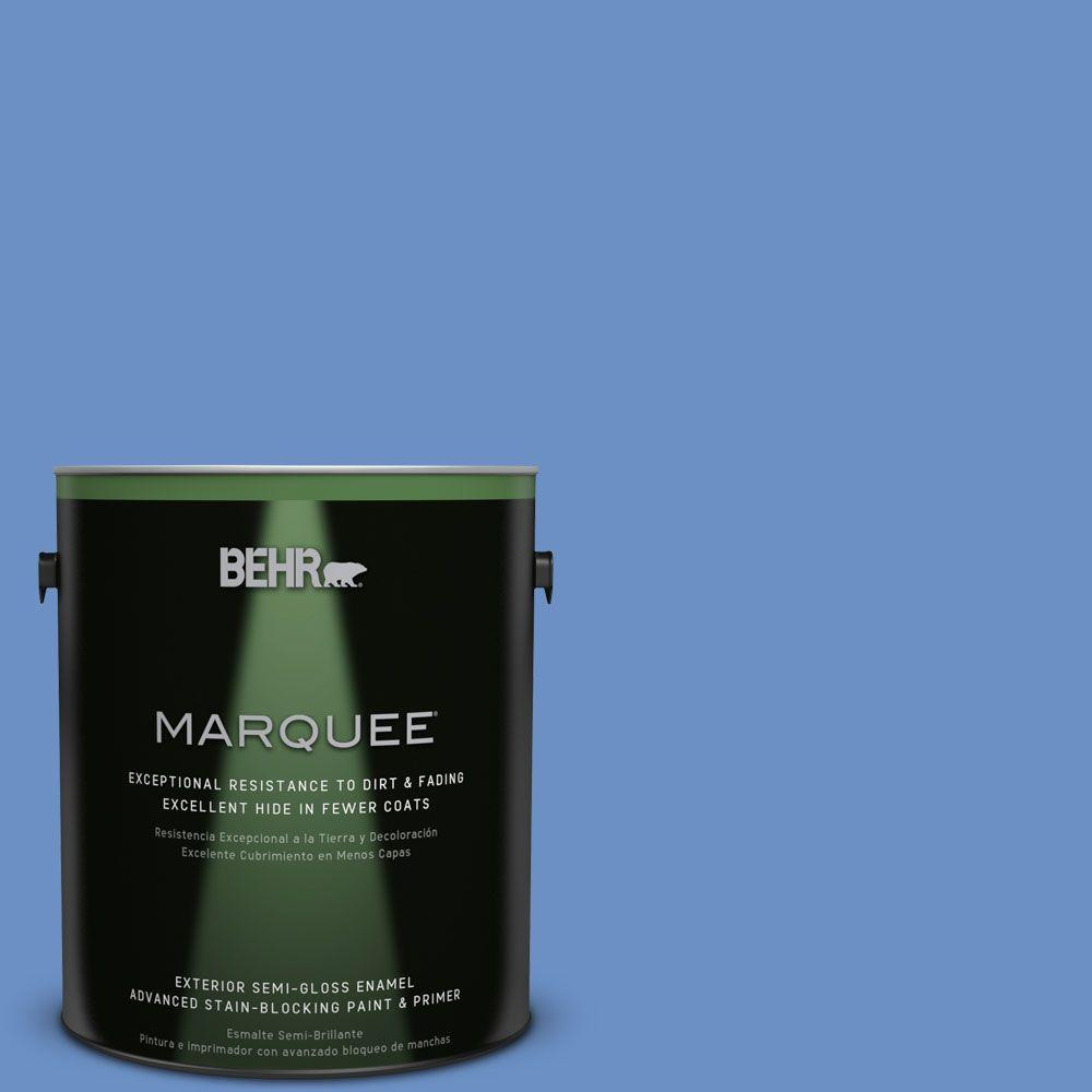 BEHR MARQUEE Home Decorators Collection 1-gal. #HDC-MD-02 Lapis Lazuli Semi-Gloss Enamel Exterior Paint
