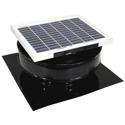 365 CFM Black Powder Coated 5-Watt Solar Powered Roof Mounted Exhaust Attic Fan