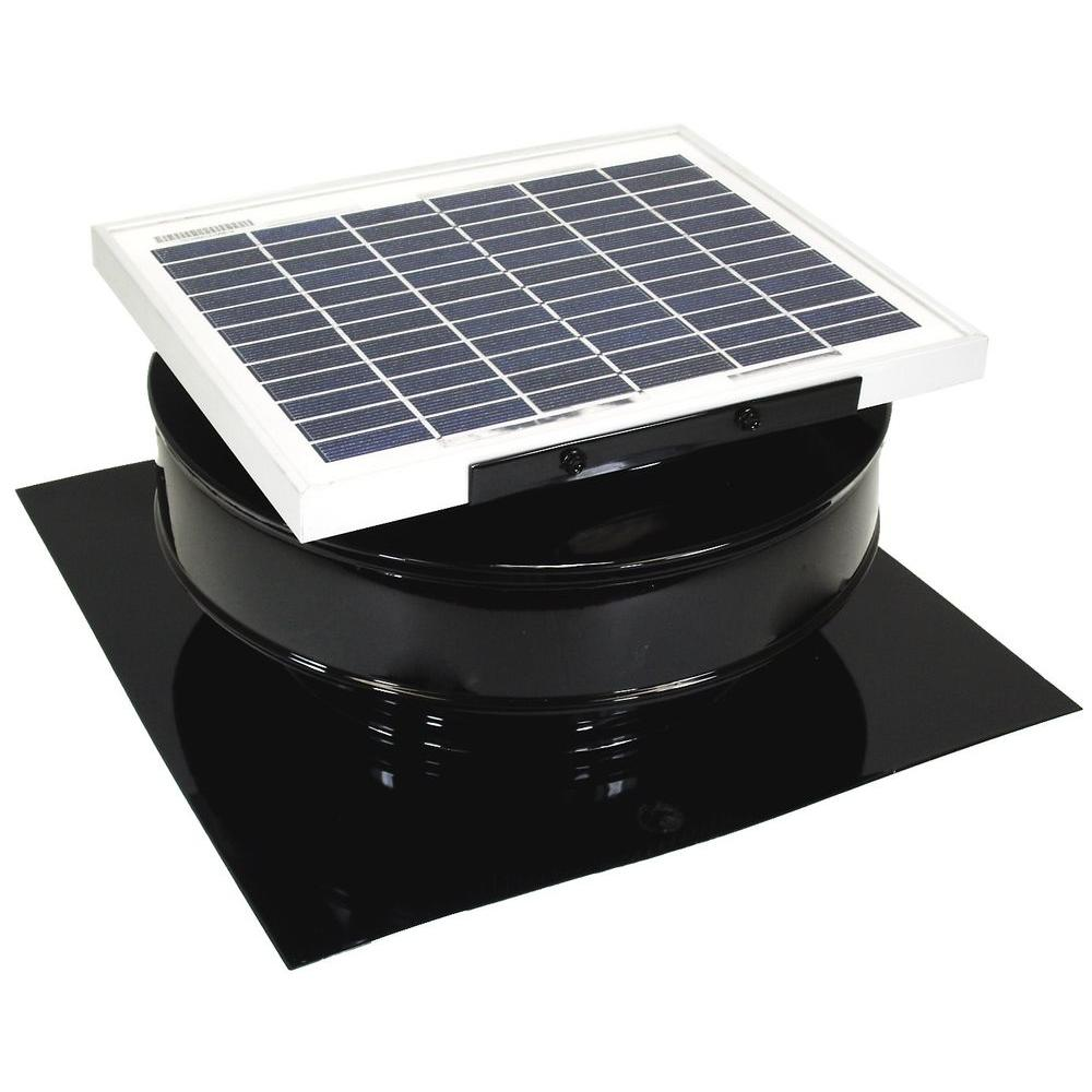 roof vent fan bathroom active ventilation 365 cfm black powder coated 5watt solar powered roof mounted exhaust attic