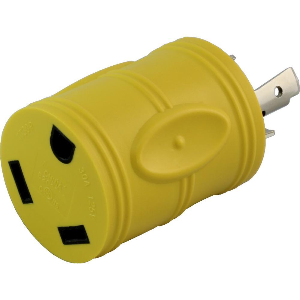 Ac works rv generator adapter nema l5 30p 30 amp 125 volt locking ac works rv generator adapter nema l5 30p 30 amp 125 volt locking plug publicscrutiny Image collections