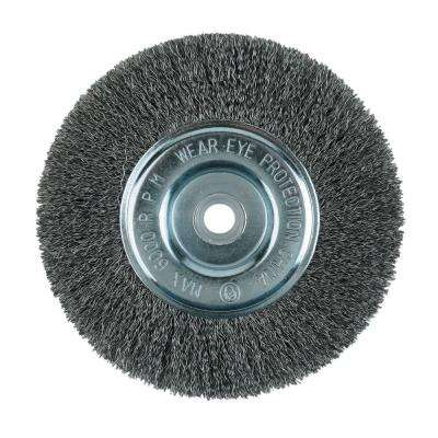 8 in. Crimped Wire Wheel Brush