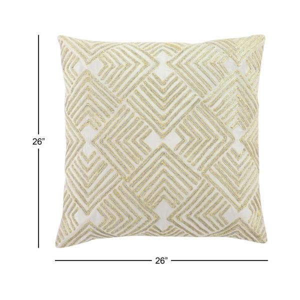 Litton Lane 26 in. x 26 in. Large Square Boho Chic