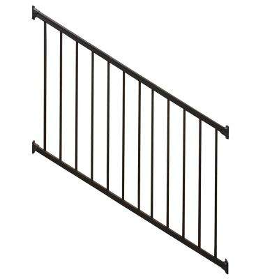 Stanford Black 3.5 ft. H x 72 in. W Textured Aluminum Stair Railing Kit