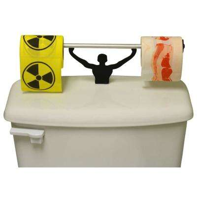 Toxic Hazardous Bacon Toilet Paper in Multi-Color with Strong Man Holder Gift Set