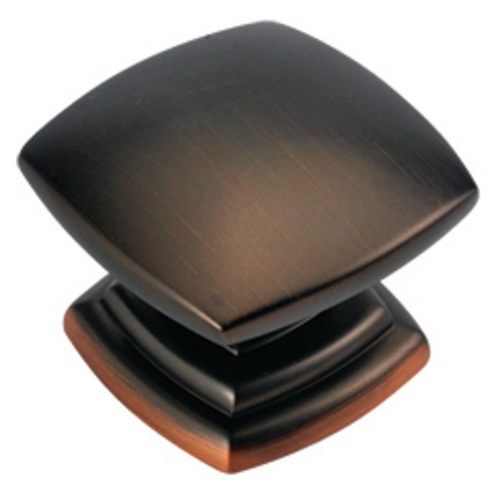 Euro-Contemporary 1-1/2 in. Refined Bronze Cabinet Knob