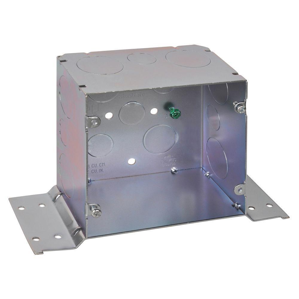 5 in. Steel Square Box with CV Bracket (20 per Case)
