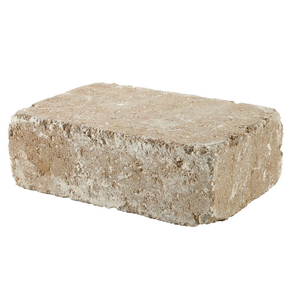RumbleStone Large 3.5 in. x 10.5 in. x 7 in. Merriam Blend Concrete Garden Wall Block