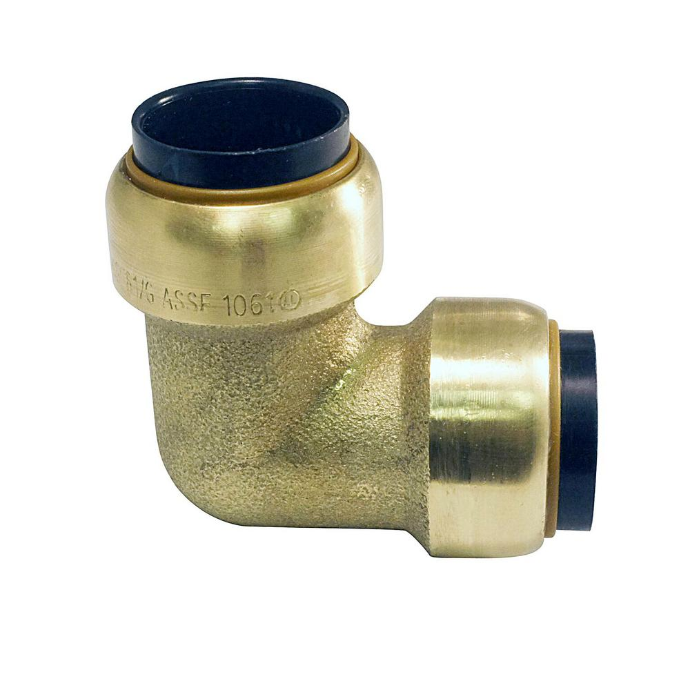 1/2 in. Brass Push-To-Connect 90 Degree Elbow