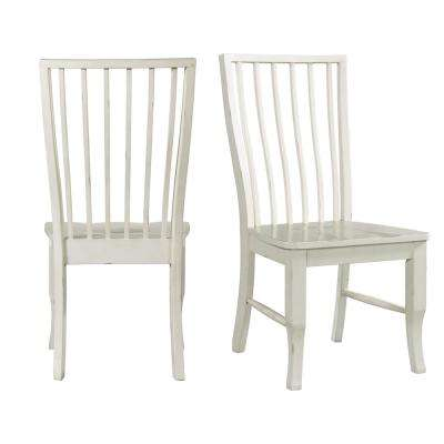 Cayman Light Brown/White Cottage Dining Chair (Set of 2)