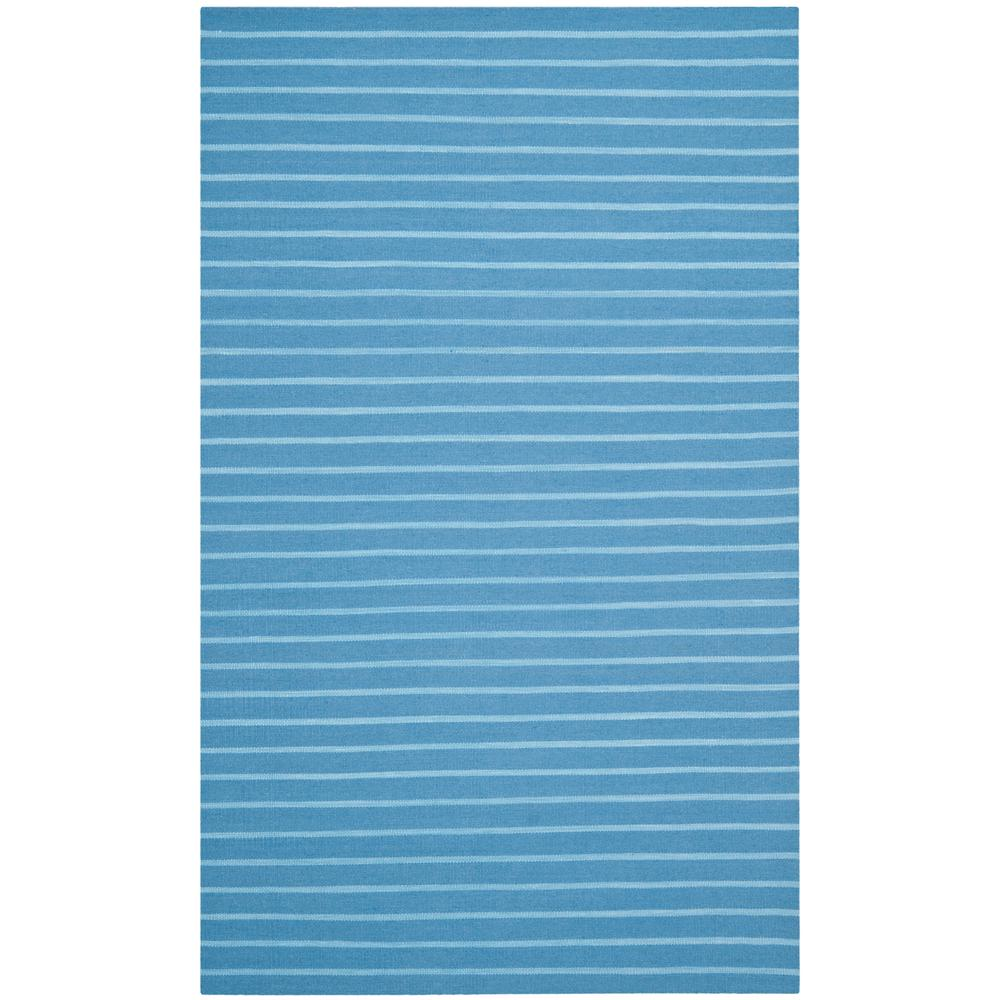 Dhurries Blue 4 ft. x 6 ft. Area Rug